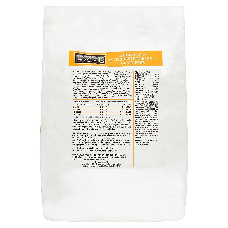 Amazon.com : Evolve Grain Free Deboned Chicken, Pea & Vegetable Formula Cat Food, Large : Pet Supplies