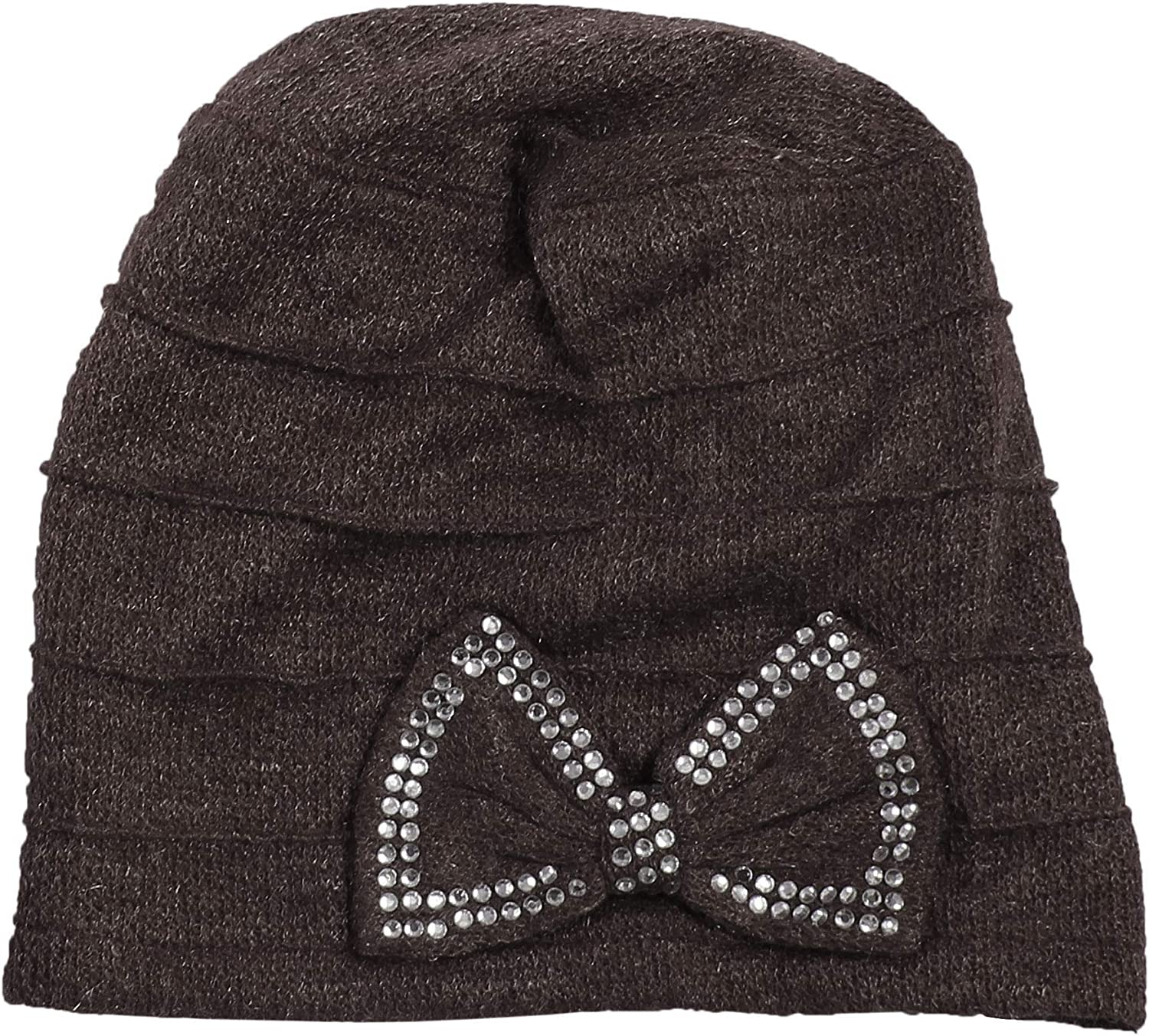 Morehats Slouchy Daily Beanie with Stonned Butterfly Bow