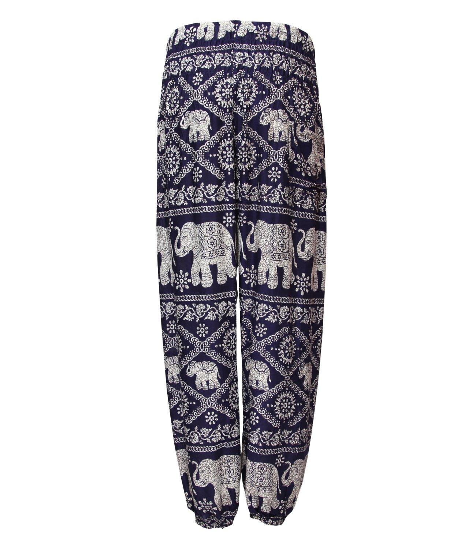 The Hippy Clothing Co. - Thai Elephant Print Harem Trousers: Amazon.co.uk:  Clothing