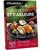Wonderbox – Coffret Cadeau restaurant DÉLICES D'ICI ET D'AILLEURS – 905 repas ou ateliers de cuisine du monde entier pour 1 ou 2 personnes