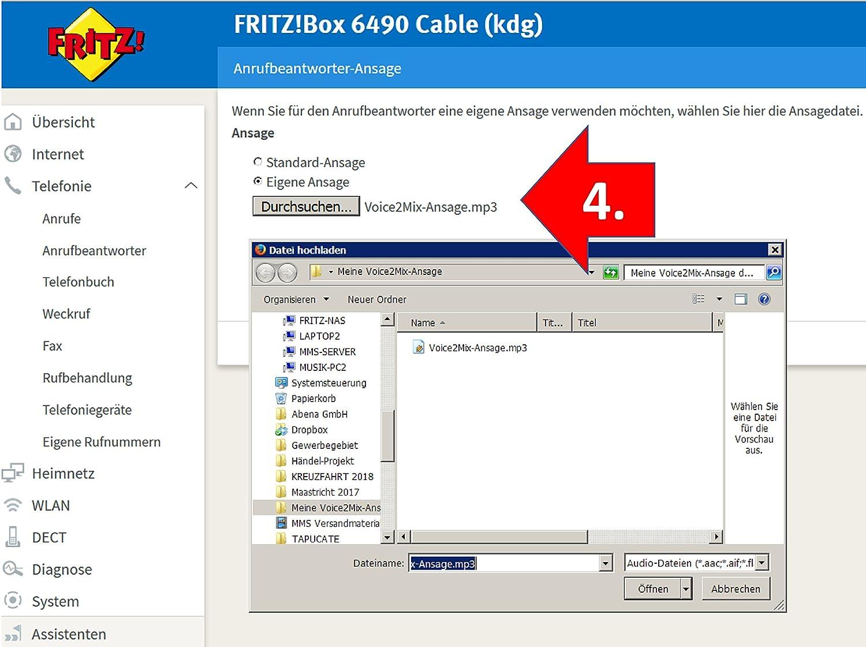 Professionelle Anrufbeantworter Oder Mailboxansage Direkte Verwendung Zb In Fritzboxen