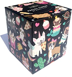Clementine Paper Junk Food Multi Breed Dogs Decorative Facial Tissue Box (230014)