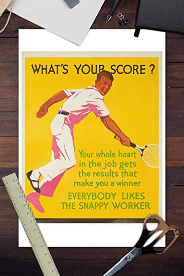 Amazon.com: Mather : Whats Your Score? Vintage Poster USA c. 1929 (12x18 Art Print, Wall Decor Travel Poster): Posters & Prints