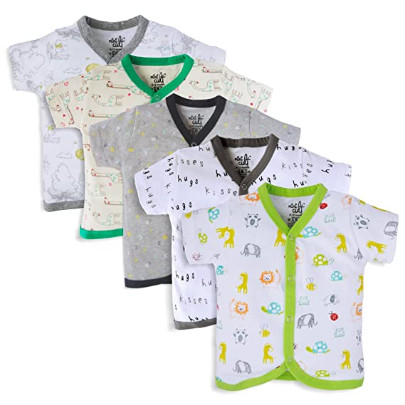 15a1617c4 MiniCult Set of Cotton Unisex Front Open Full Sleeve T-Shirt with ...