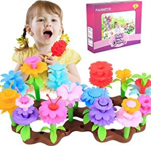 FANIMETO Flower Garden Building Toys for 3,4,5,6, Year Old Girls, Outsides Preschool Stem Educational Toys and Birthday Gift for Age 3-8 Year Old Toddlers and Kids Activities