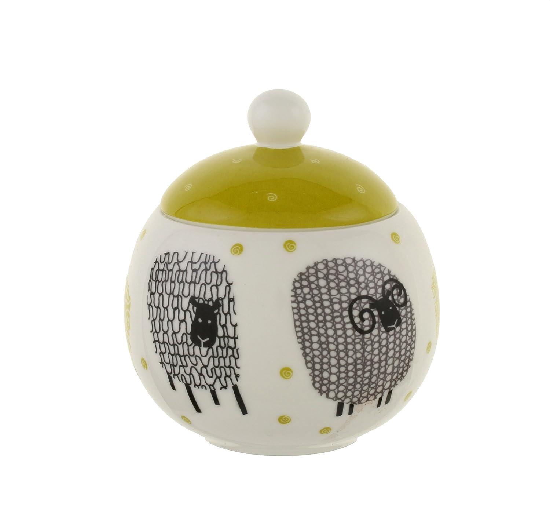 Ulster Weavers Dotty Sheep Yellow Porcelain Tea Serving Sugar Bowl B01BMDCLDM シュガーボウル-