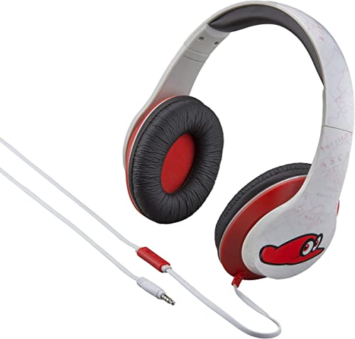 Super Mario Odyssey Over The Ear Headphones with Built in Microphone Quality Sound from The Makers of iHome