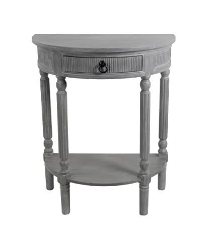 Delicieux Privilege 28283 Slate 1 Drawer Half Round Table, Grey