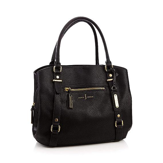 96682a634570 J By Jasper Conran Womens Black Zip Detail Shoulder Bag  J by Jasper Conran   Amazon.co.uk  Clothing