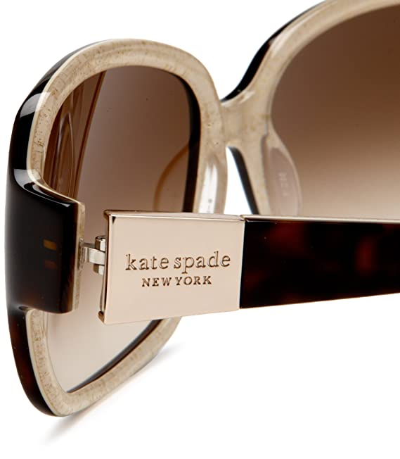 6a3dfe708e4 Amazon.com  Kate Spade New York Women s Lulu Tortoise Gold Brown Gradient  Lens Sunglasses One Size  Clothing