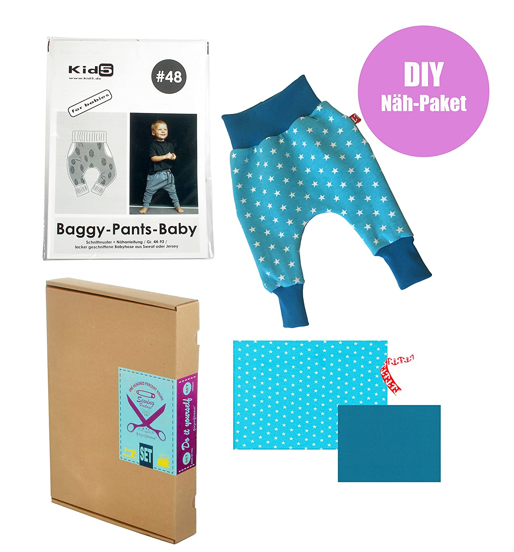 Näh-Paket Geschenk-Set Baby-Hose \