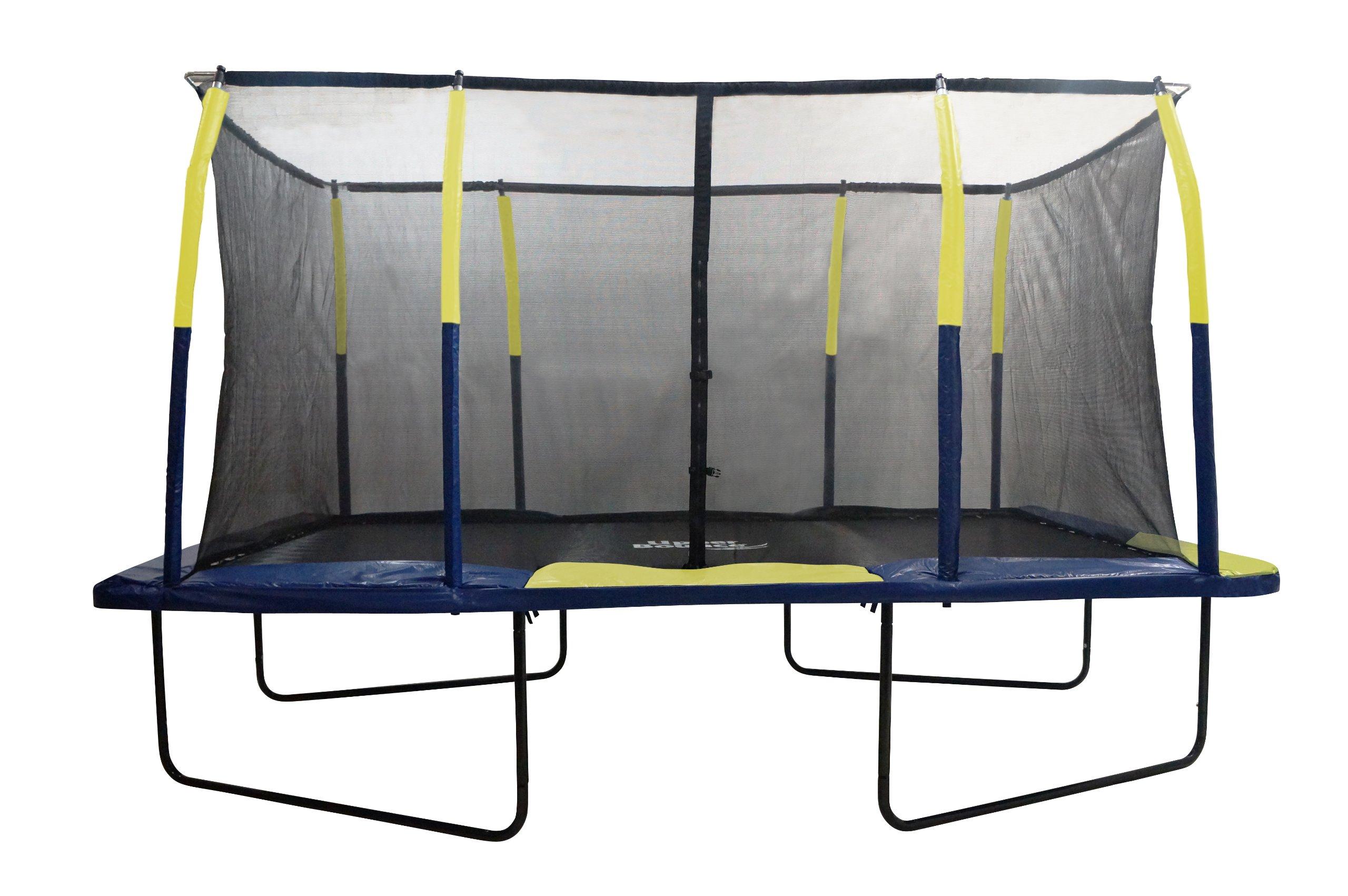 Upper Bounce Easy Assemble Spacious Rectangular Trampoline with Fiber Flex Enclosure Feature, 9 x 15-Feet