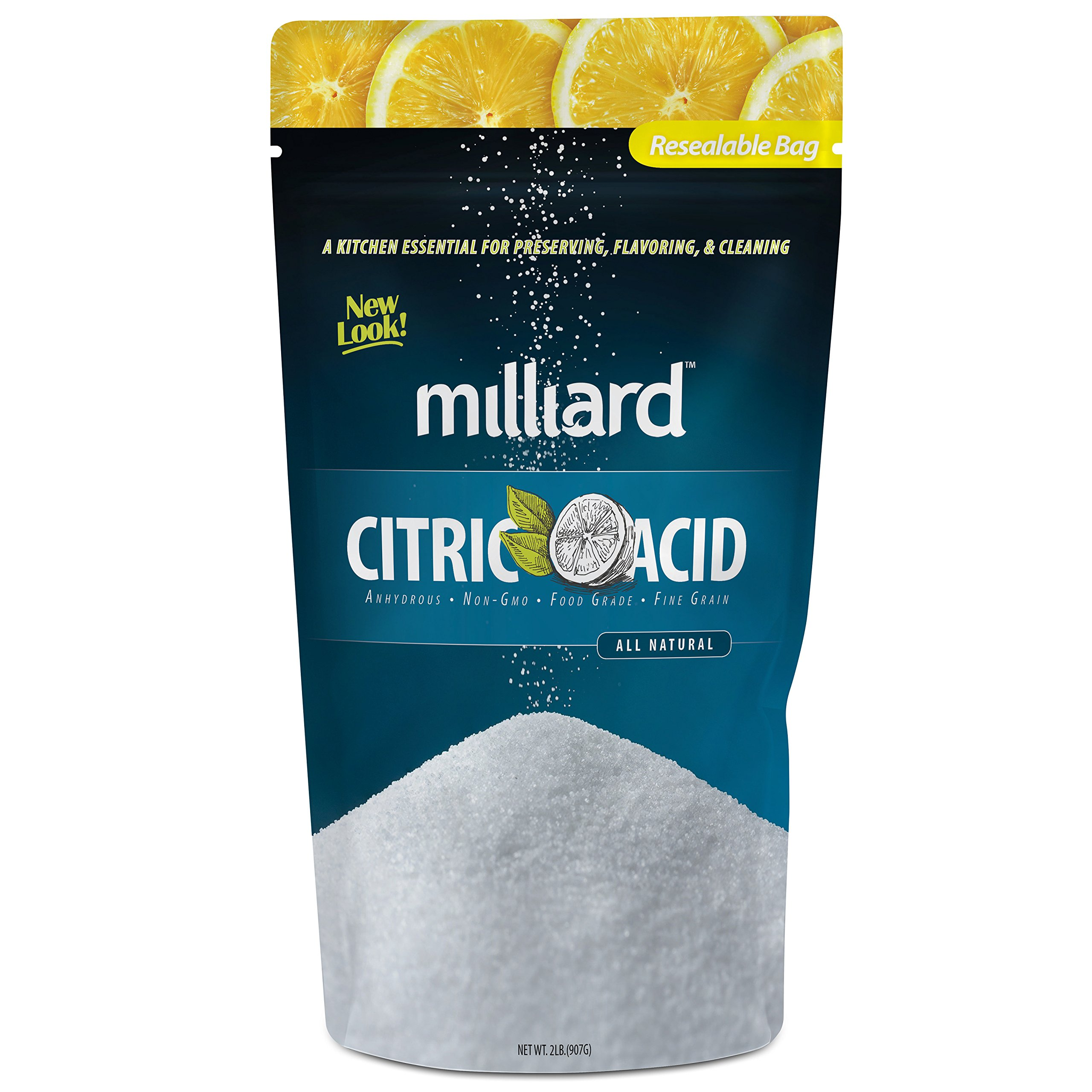 Milliard Citric Acid - 2 Pound - 100% Pure Food Grade NON-GMO (2 Pound)