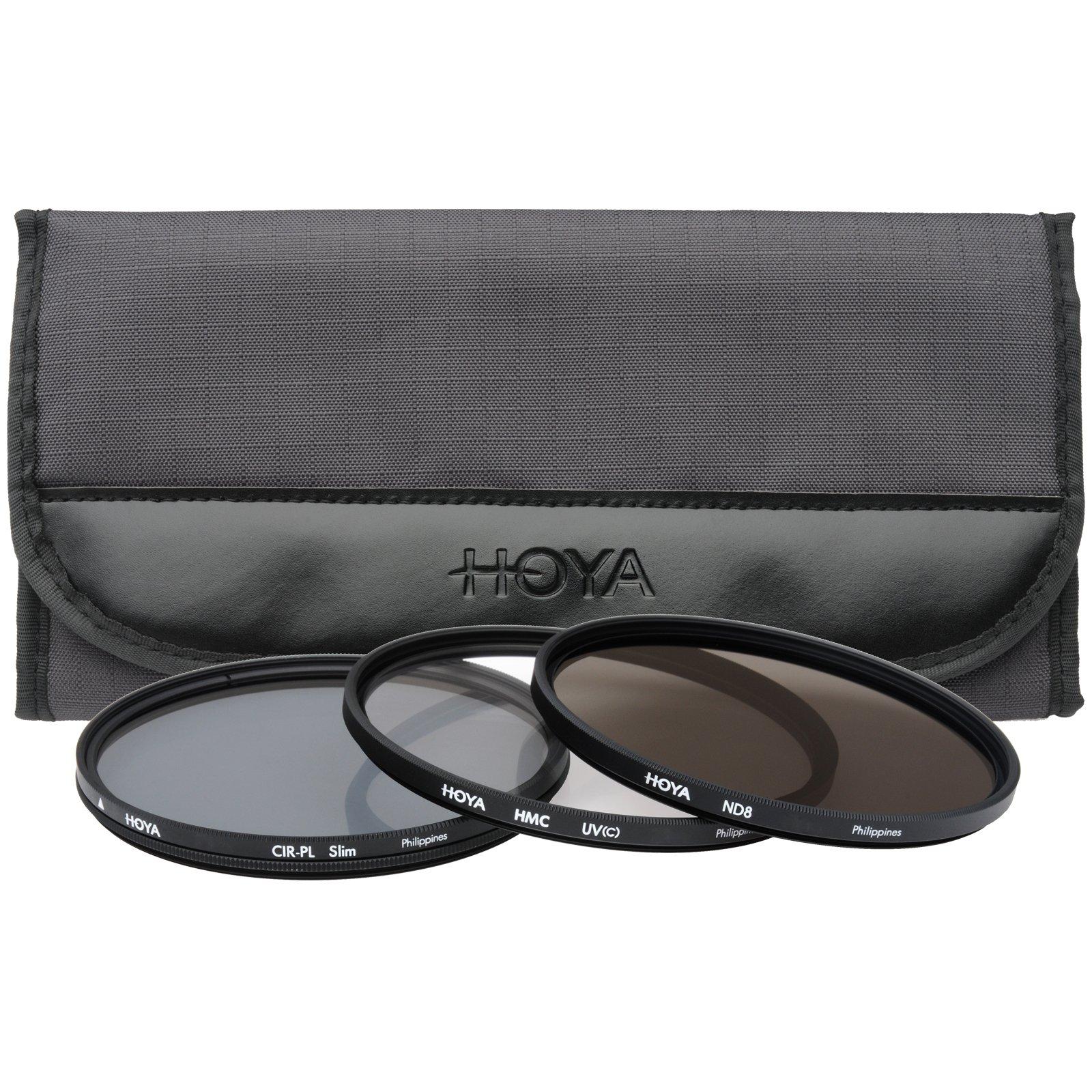 Hoya 82mm II (HMC UV/Circular Polarizer / ND8) 3 Digital Filter Set with Pouch