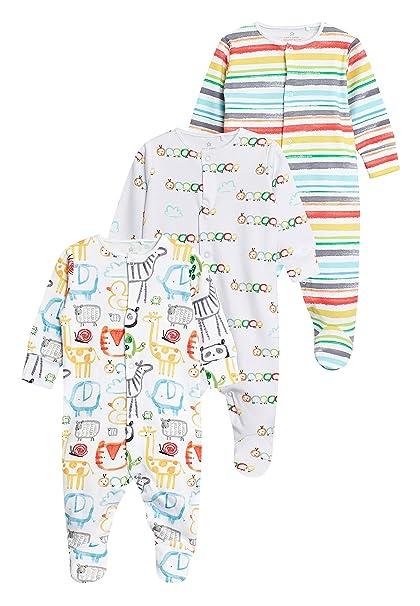 next Bebé-Niños Pack De Tres Pijamas Tipo Pelele con Estampado De Animal (0