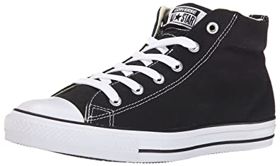 Converse Mens Street Canvas Mid Top Shoe       Black Natural White