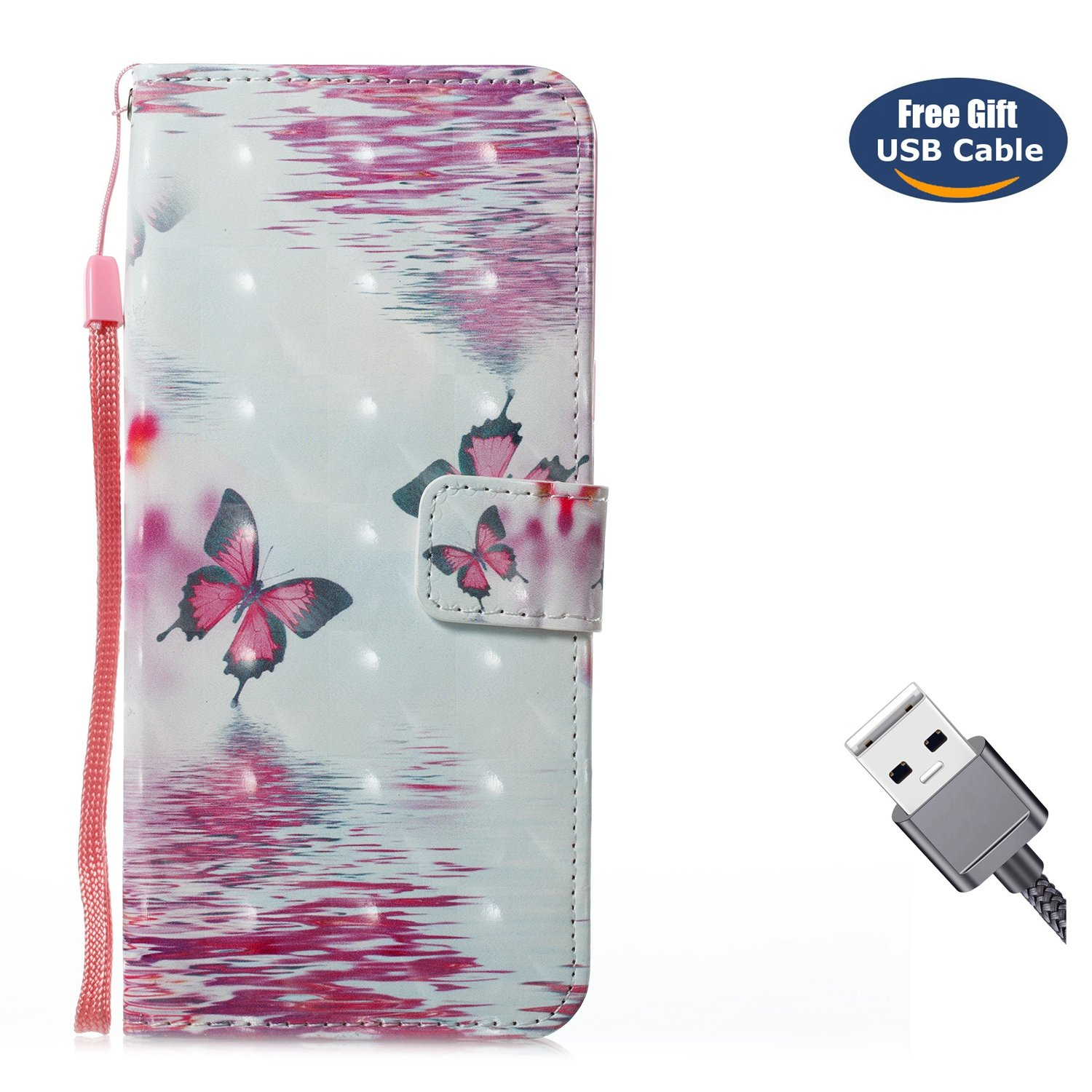 Galaxy Note 8 case, Galaxy Note 8 cover, Aireratze [Wallet Case] Premium Soft PU Leather Notebook 3D Surface Design Case with [Kickstand] Stand Function Card Holder and ID Slot Slim Flip Protective Skin Cover for Samsung Galaxy Note 8(Baby Bear)+ Free USB