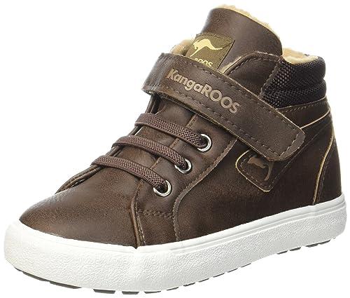 KangaROOS KAVU i, Sneaker a Collo Alto Unisex �C bambini, Grau (Dk Grey/Sand), 40 EU