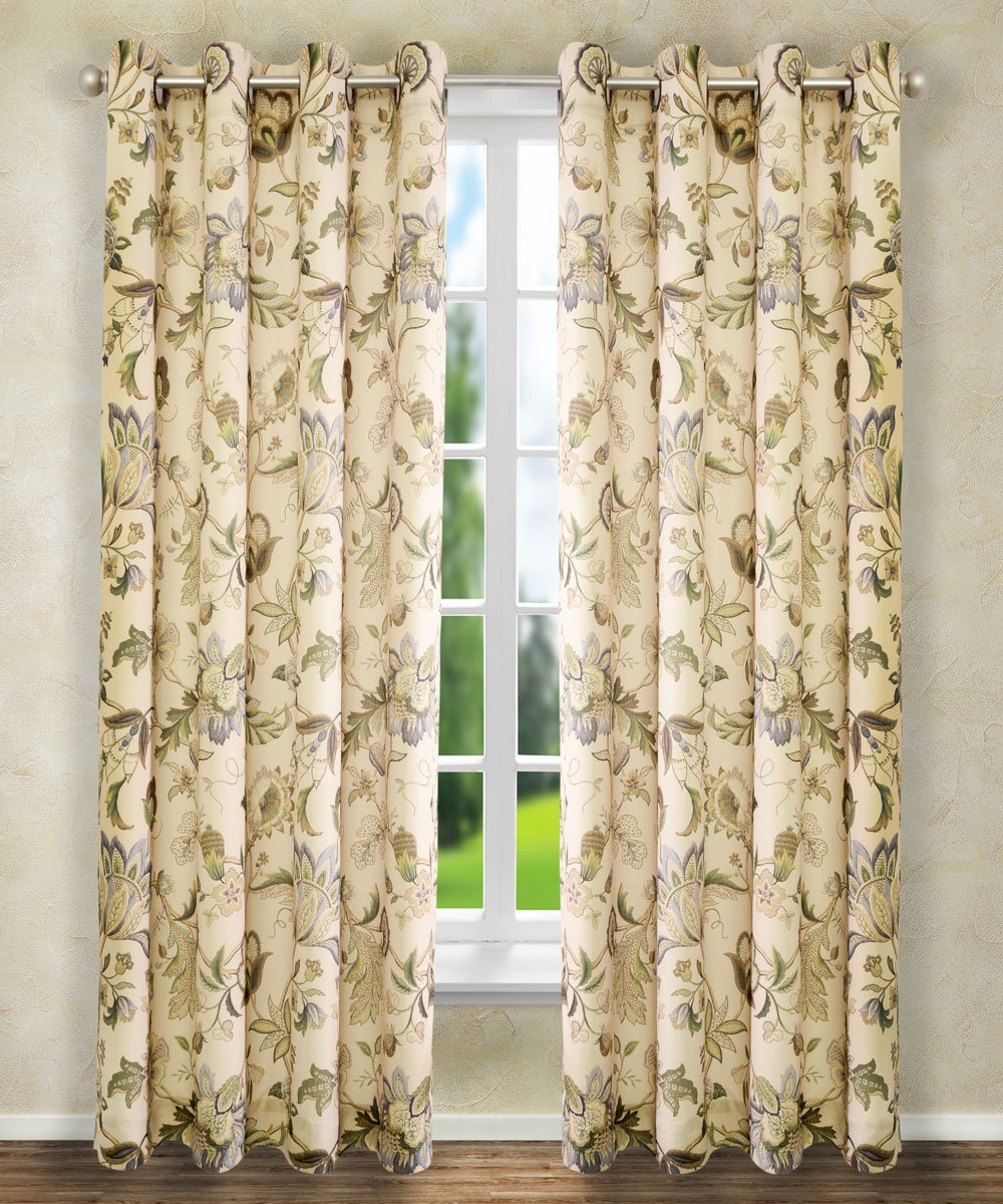 "Ellis Curtain Brissac Grommet Panel, 50 x 63"", Linen"