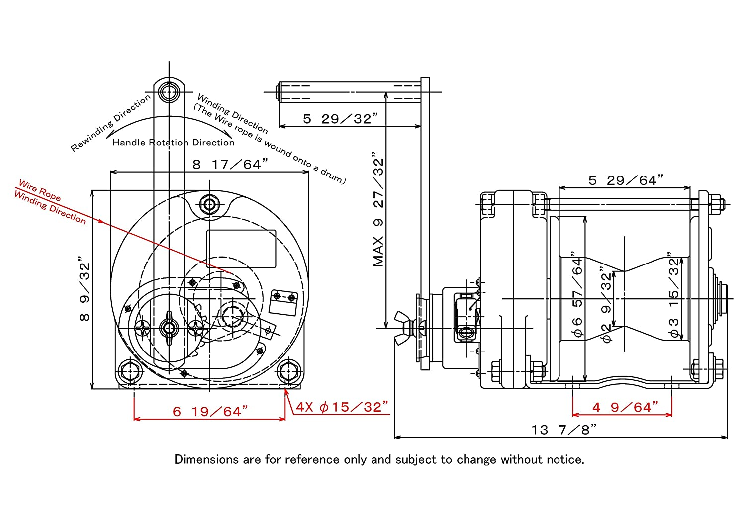 Maxpull Steel Capstan Drum Spur Gear Heavy Duty Hand Jacobsen Golf Cart Wiring Diagram Manual Winch With Automatic Brake 1100 Lbs 500 Kg Capacity Without Cable Or Wire Rope