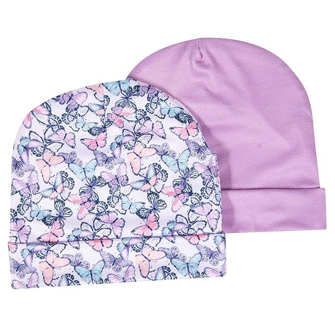 987e9990b1e aden + anais Infant Girls Hat Set - 2 Pack Hat Set - Premium Printed Beanies