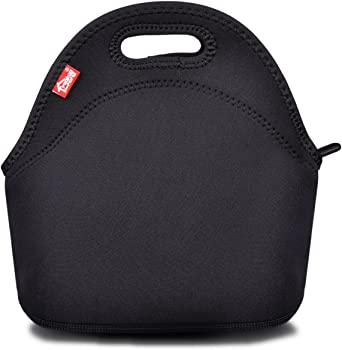 Yookeehome Black Neoprene Reusable Lunch Bag