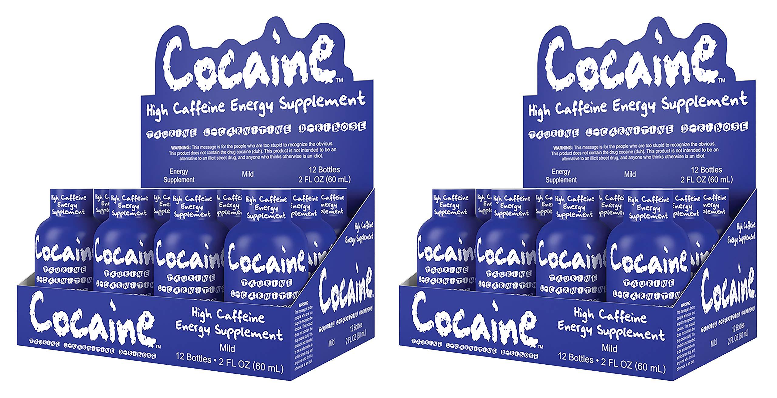 Cocaine Energy Shot High Caffeine Energy Supplement (24pk, Mild) by Cocaine Energy Shot