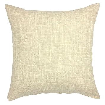 Amazon.com: Funda de cojín de lino y algodón para sofá, cama ...