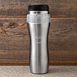 Personalized Bling Tumbler - Sparkly Tumbler - Monogrammed Coffee Tumbler