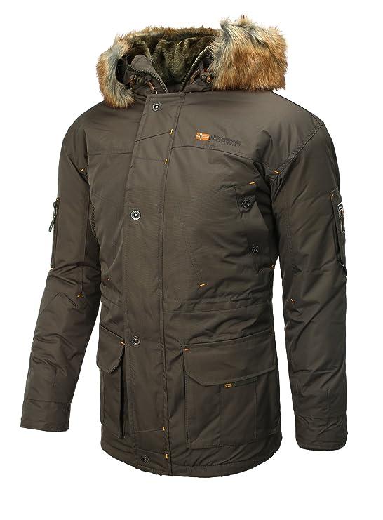 Geographical Norway Men Winter Parka Jacket Alaska, olive