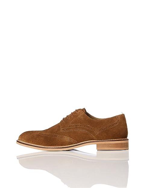 Find Zapatos de Cuero con Cordones para Hombre, Marrón (Tan), 43 EU