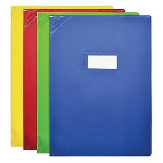 Elba–Set di 5protège-cahiers PVC 150STRONG Line 24x 32cm opaco colori assortiti