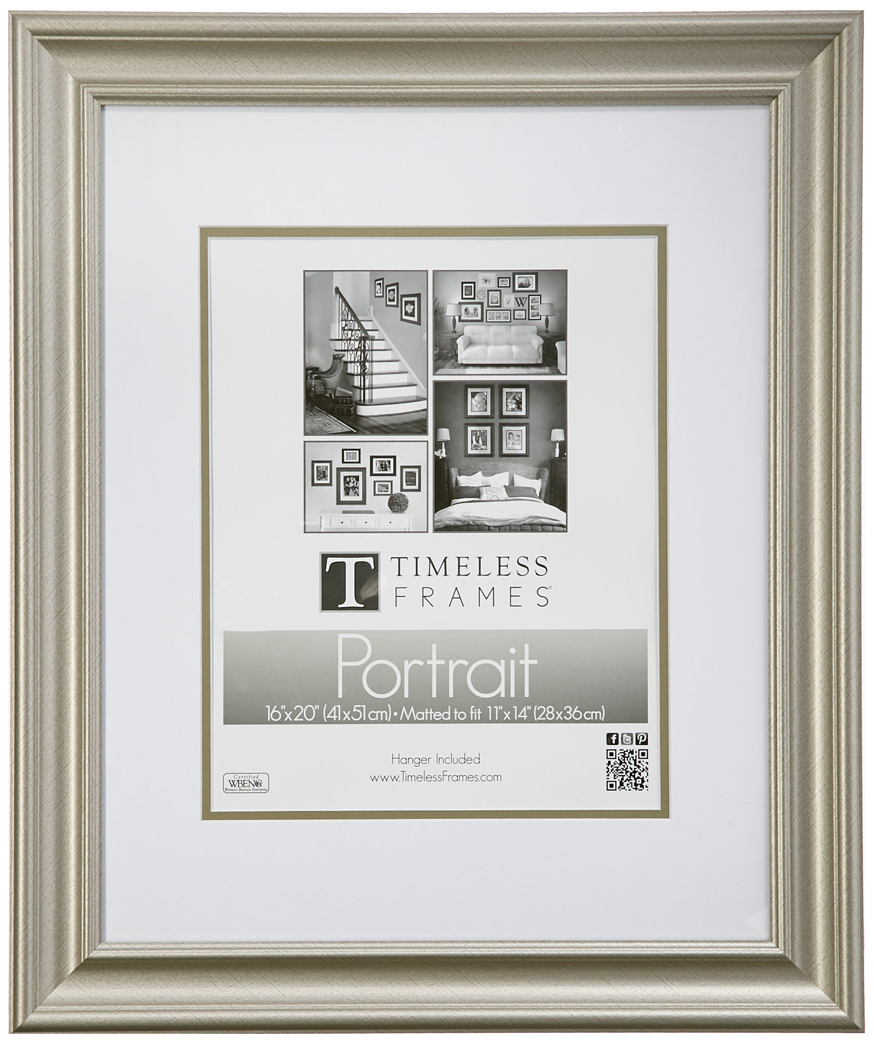Timeless Frames Lauren Portrait Wall Photo Frame, 16 by 20-Inch, Silver by Timeless Expressions