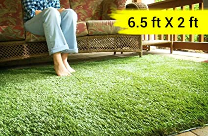 Tied Ribbons High Density Artificial Grass Carpet Mat for Home, Balcony, Lawn, Patio,Garden Artificial Turf(6.5 ft X 2 ft)