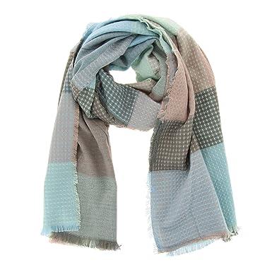 FASHIONGEN - Echarpe femme oversize coton Suzie - Bleu ciel  Amazon ... 98c886519f2