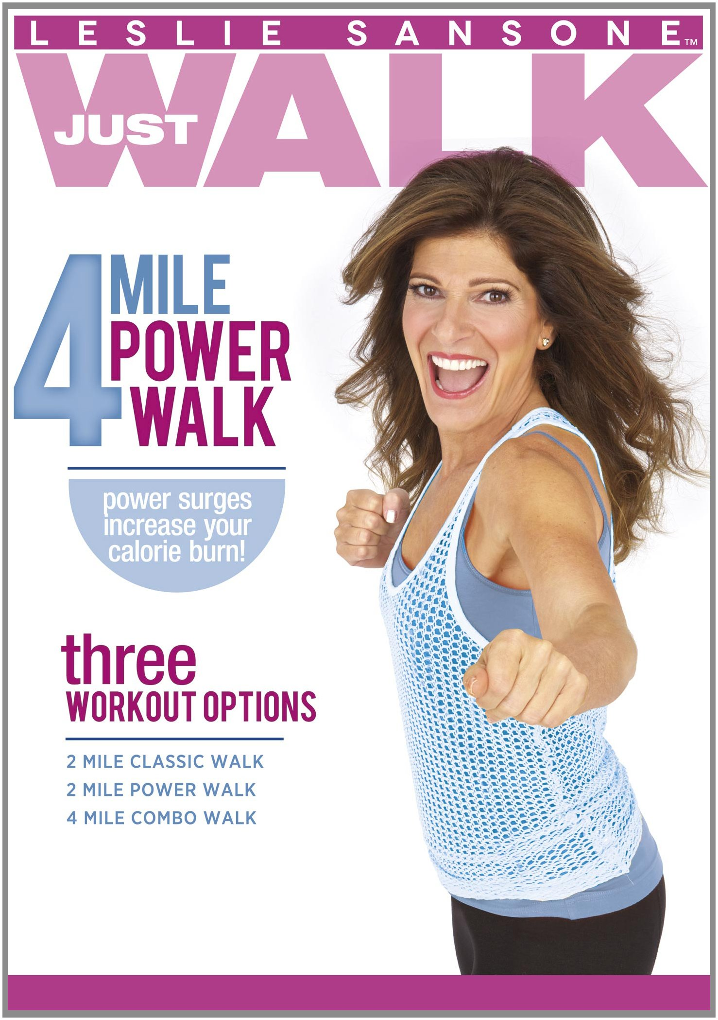 DVD : Leslie Sansone - 4 Mile Power Walk (DVD)