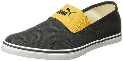 e665ce021f1f Puma Men s Vulc Slip On Dark Grey and Yellow Boat Shoes - 11 UK India
