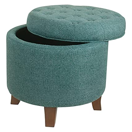 Amazing Amazon Com Yuriful Velvet Upholstery Round Tufted Storage Andrewgaddart Wooden Chair Designs For Living Room Andrewgaddartcom