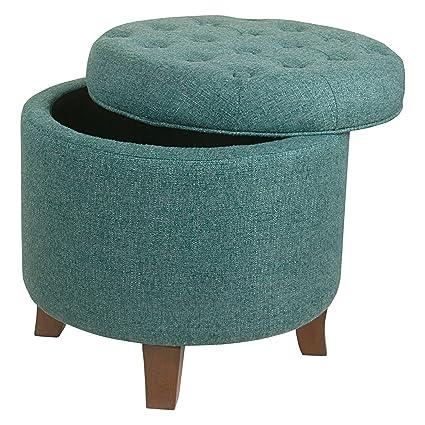 Swell Amazon Com Yuriful Velvet Upholstery Round Tufted Storage Lamtechconsult Wood Chair Design Ideas Lamtechconsultcom