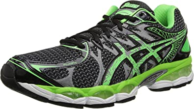Asics Gel-Nimbus 16 Lite-Show Hombres Camiseta Running Shoe, Negro (Black/Apple Green/Silver), 12 D(M) US: Amazon.es: Zapatos y complementos