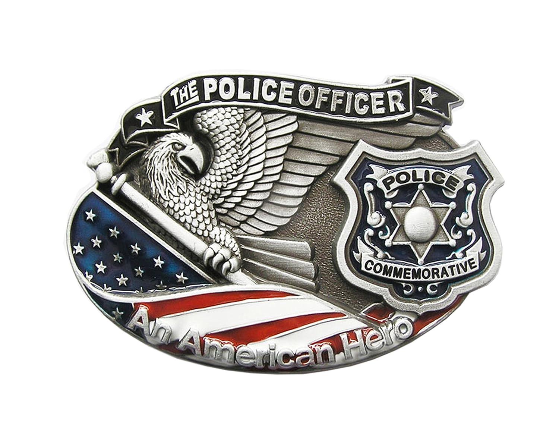 Gü rtelschnalle Polizei Police Officer 3D Optik fü r Wechselgü rtel Gü rtel Schnalle Buckle Modell 43 - Schnalle123