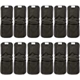 Alva Baby 5-Layer Charcoal Bamboo Inserts Reusable Liners for Cloth Diapers with Gussets 12PCS 12FLN