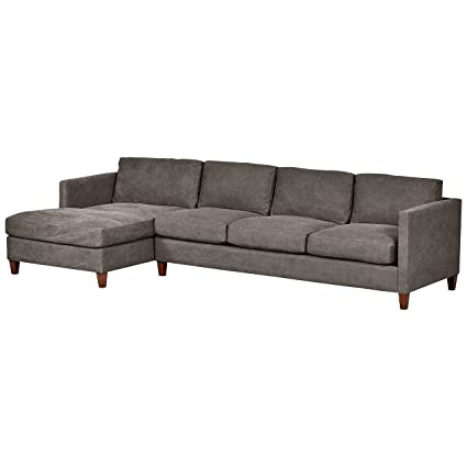 Prime Stone Beam Andover Modern Left Chaise Sofa Sectional 126W Pewter Pdpeps Interior Chair Design Pdpepsorg