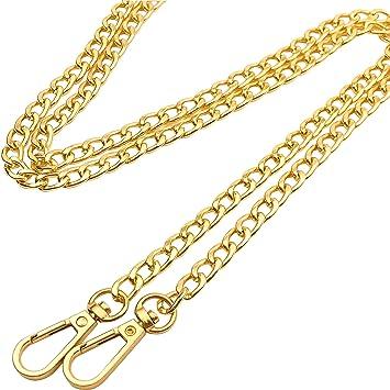 Guo Fa 120CM X 8MM Flat Chain Strap Handbags Replacement Chains for Wallet  Clutch Satchel Tote 4faedd3da0c64
