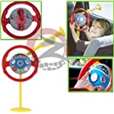 ZUMZ NEW KIDS ELECTRONIC BACKSEAT DRIVER MY 1ST RIRST CAR STEERING WHEEL GAME CAR RACING PLAY ACTIVITIES HORN BUTTON WITH LIGHT & SOUND
