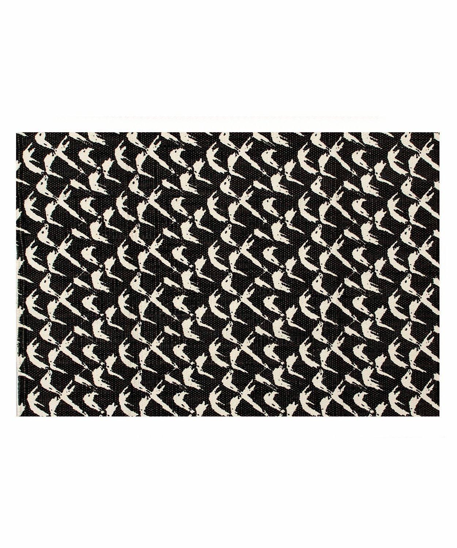 Casa Copenhagen Zebra Exotic Collection 600 GSM Cotton Bath Mat, Cream & Black Acme CCE050070BTM004