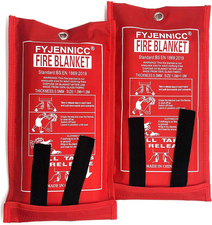 Kitchen Safety Uras Fire Blanket Fire Emergency Blanket Suppression Blanket Retardant Blanket Emergency Survival Safety Cover for Camping Grilling