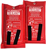 FYJENNICC Fire Blanket Emergency Survival Fiberglass Shelter Safety Cover for The