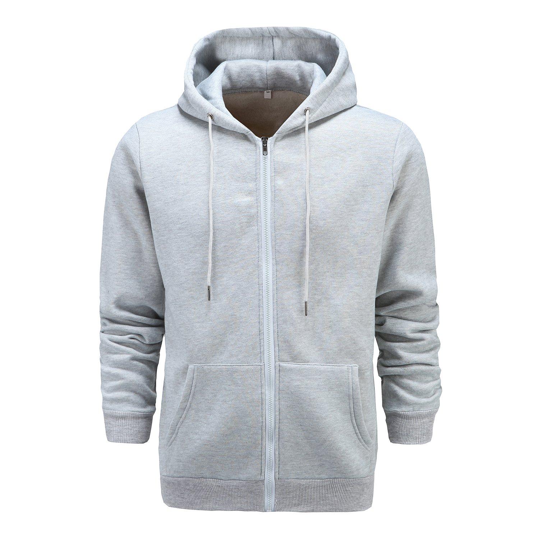 Venson Men's Outwear Long Sleeve Zip-up Fleece Hoodie Hooded