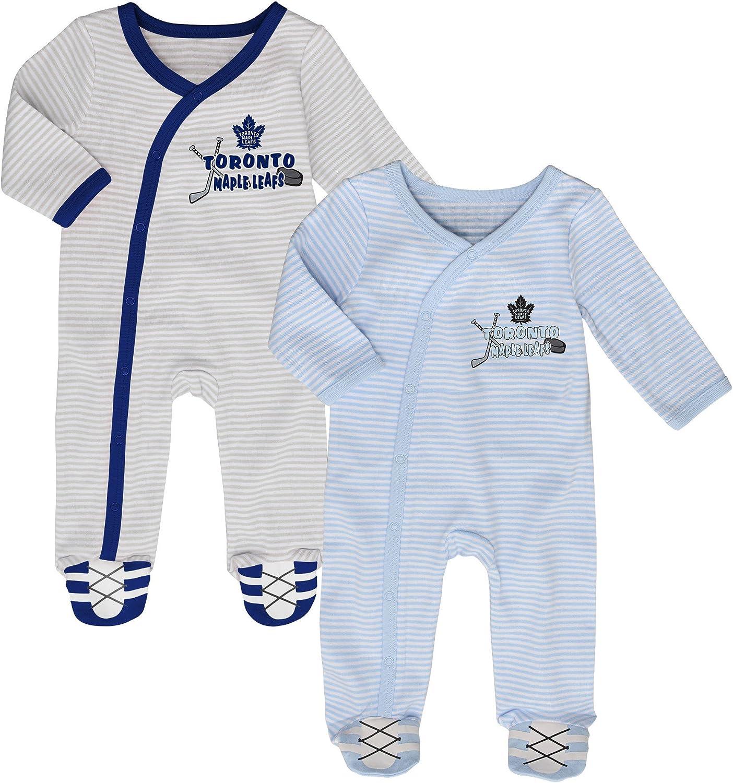 Toronto Maple Leafs Newborn Hockeys Best 2-Piece Long Sleeve Coverall Set